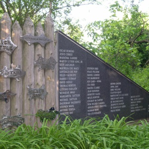 Hudson, Jon B. PEACE WALL & MOON GATE, stockade & Viet Vet~1.JPG