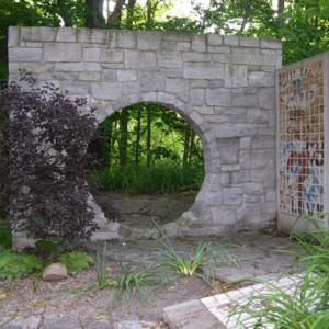 Hudson, Jon B. PEACE WALL & MOON GATE, moon gate.JPG